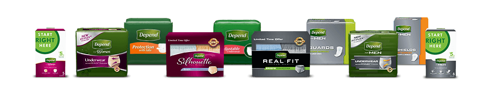 Where to buy adult briefs, disposable underwear and other incontinence products from Depend<sup>&reg;</sup> Brand.